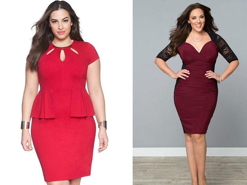 Платья в красном цвете для полных