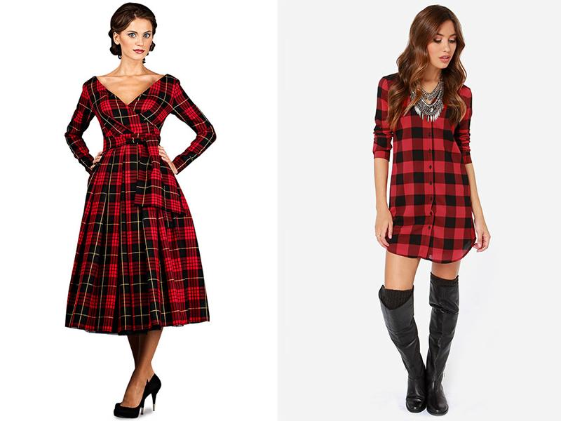 Платье Шотландская Клетка Купить