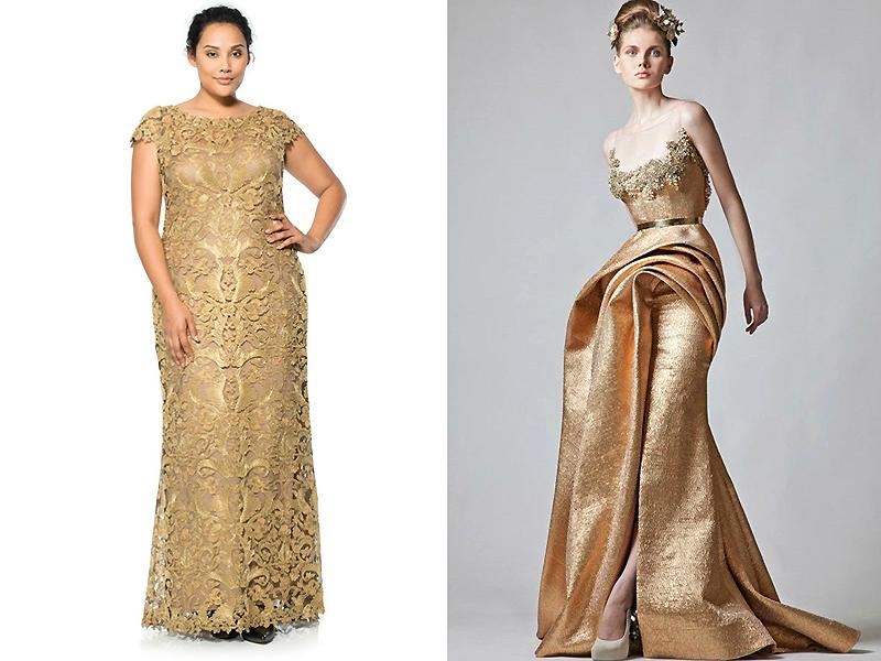 Украшение для золотого платья