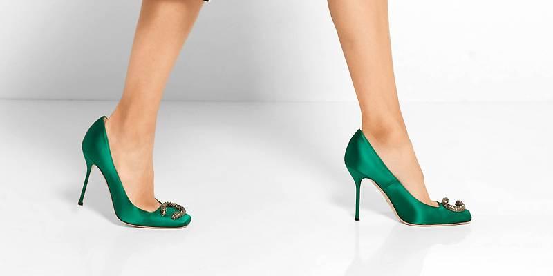 туфли зелёного цвета фото