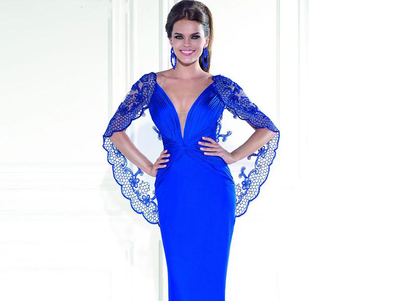 Синее вечернее платье – прекрасный наряд для выхода 6316b2299f4