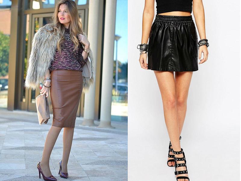 Сколько надо кожи на юбку