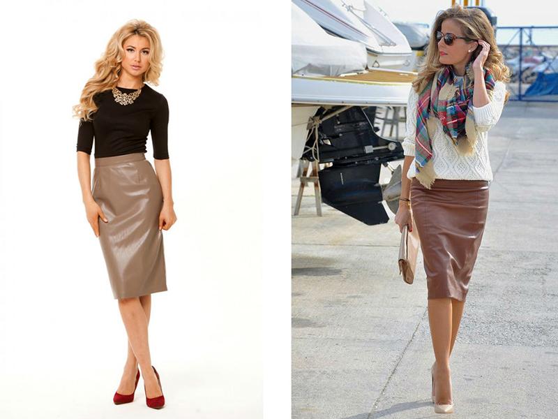 Платье и юбки из экокожи