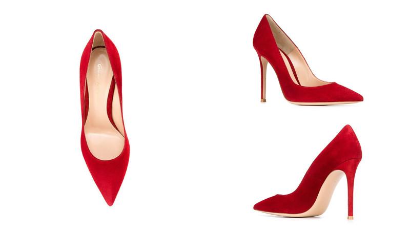 Красные замшевые туфли – преобразят самый обыденный образ de05623322243