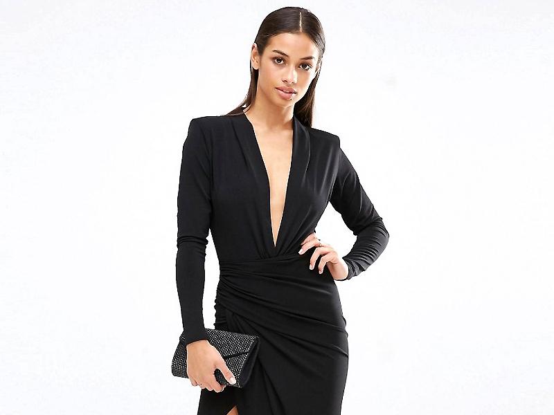 b69ad83be429 Выбираем новый образ  длинное черное платье