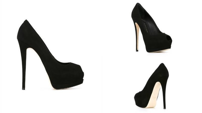 фото чёрные туфли на платформе