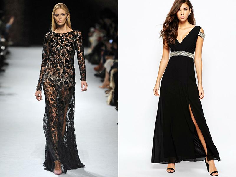 Черное платье длинное фасоны