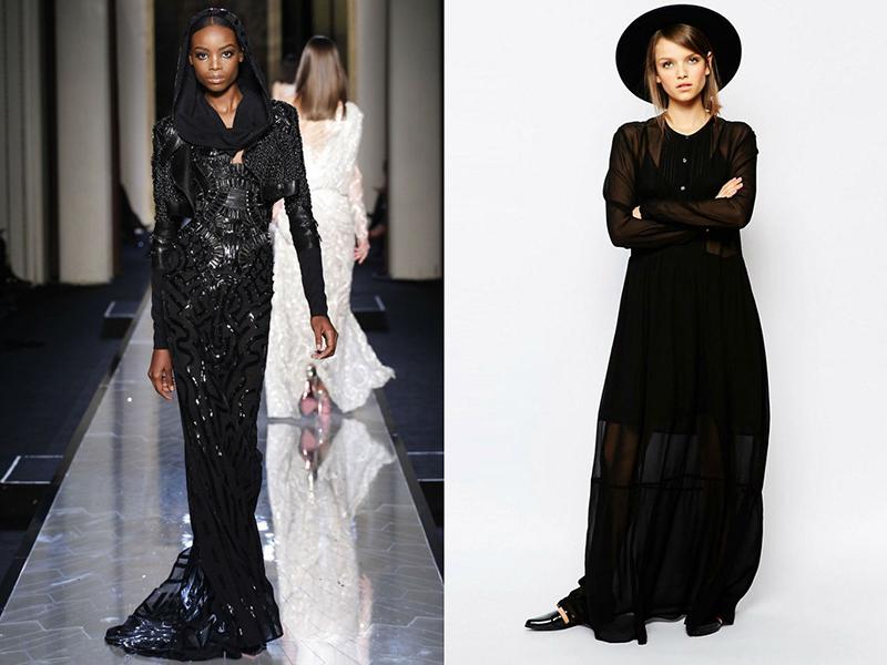 dfa306bd091a Если все вышеперечисленные фасоны больше актуальны для торжественных  событий и светских мероприятий, то обычное черное платье с рукавами более  универсально ...