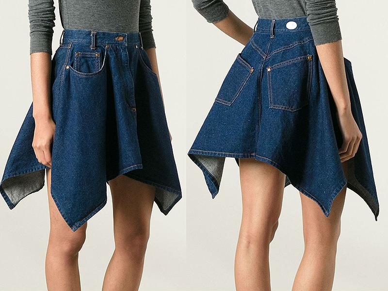 Какую юбку можно сшить из старых джинсов 97