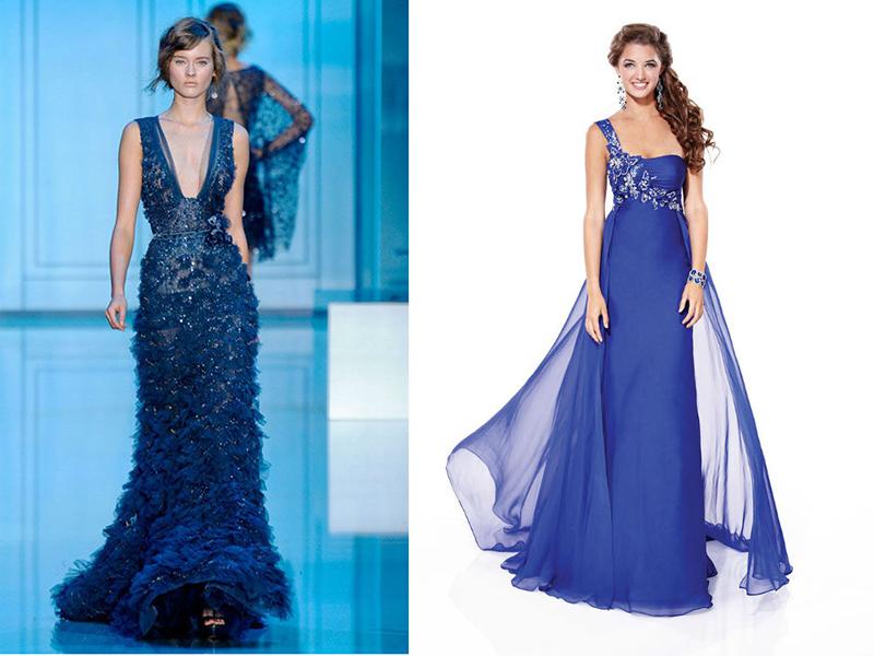 Купить Синее Свадебное Платье