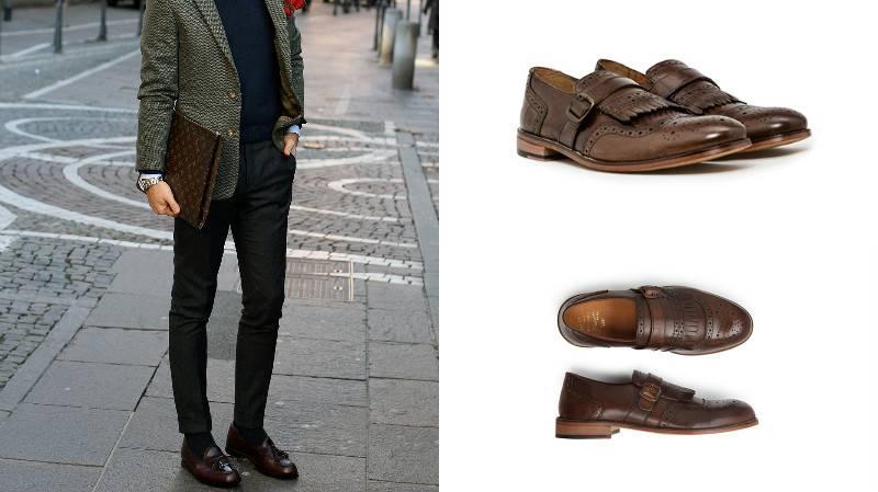 С чем можно одеть коричневые ботинки
