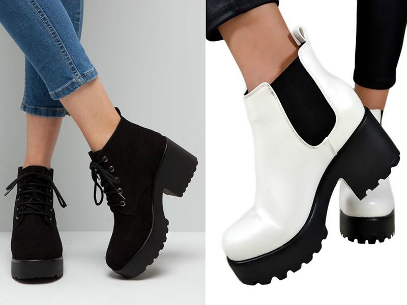 Тракторные ботинки под