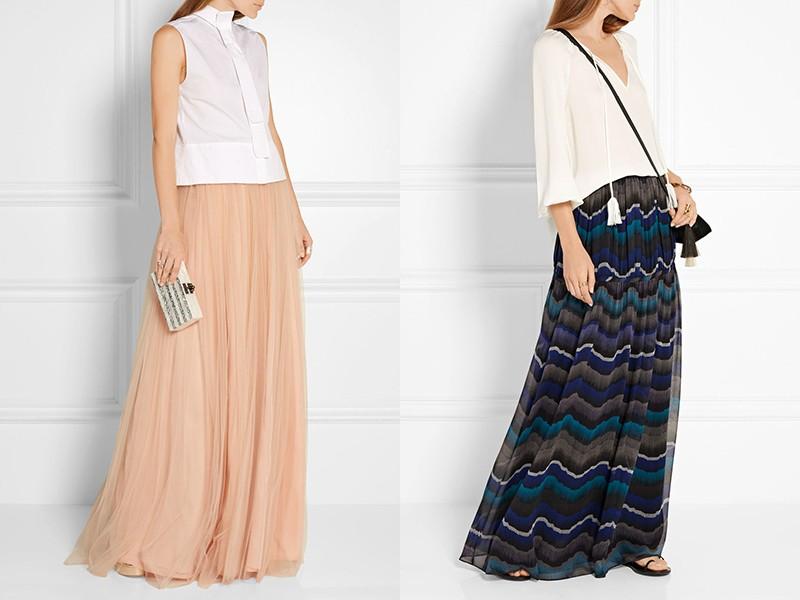Длинные шифоновые юбки своими руками
