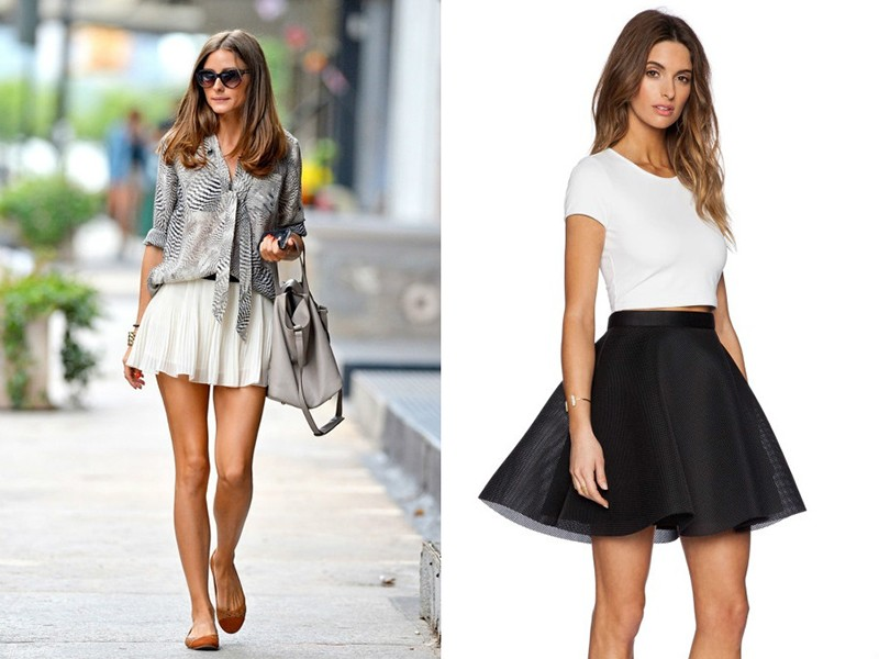 Какие юбки подойдут для коротких ног