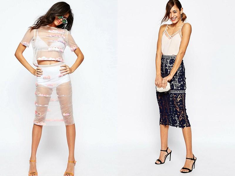 Прозрачная юбка под фото 785-389