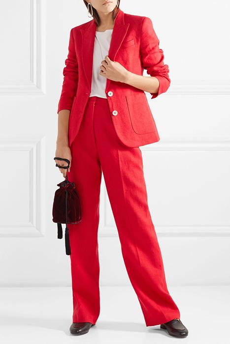 c2736b9ca464 Красный брючный костюм (32 фото): модели, с чем носить   Мода от ...