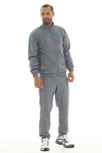 01577932 Стильные мужские спортивные костюмы представлены в разной цветовой палитре.  Большим спросом пользуются черные, темно – синие, серые, светло –  сиреневые, ...
