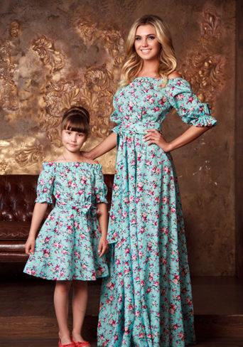 42628d19643 Одинаковые платья для мамы и дочки (46 фото)  вечерние