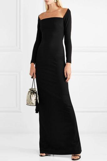 Вечерние платья с рукавами три четверти