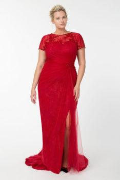 Вечернее платье с разрезом до бедра