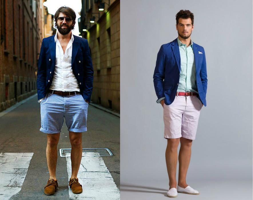 Джинсовые шорты с рубашкой мужские