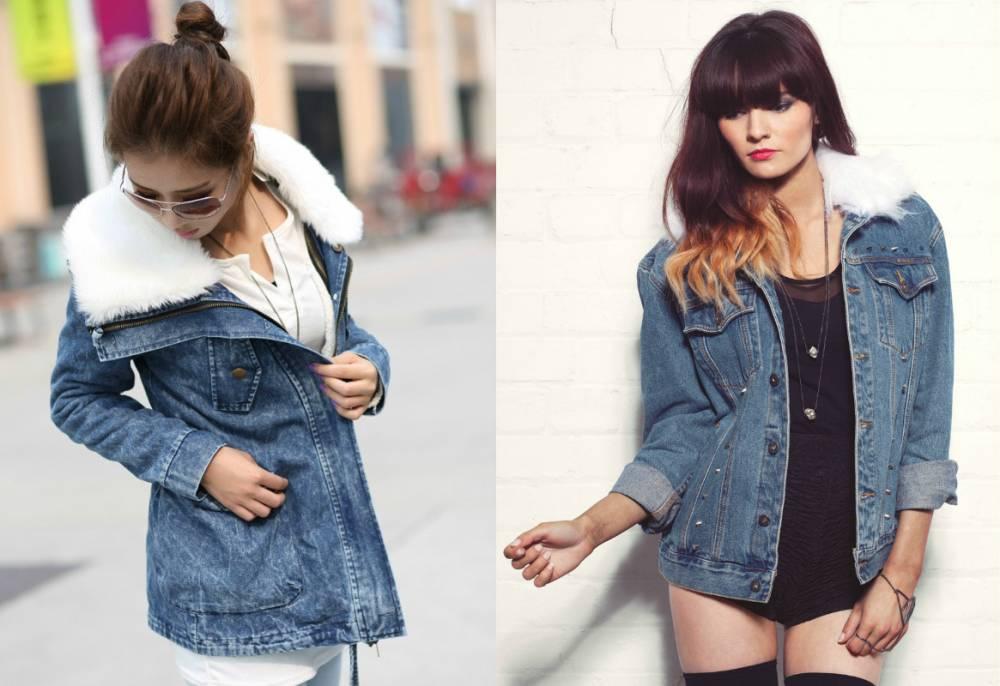 acb71c2f4fe Женские джинсовые куртки с мехом — вещь осенне-зимнего гардероба ...