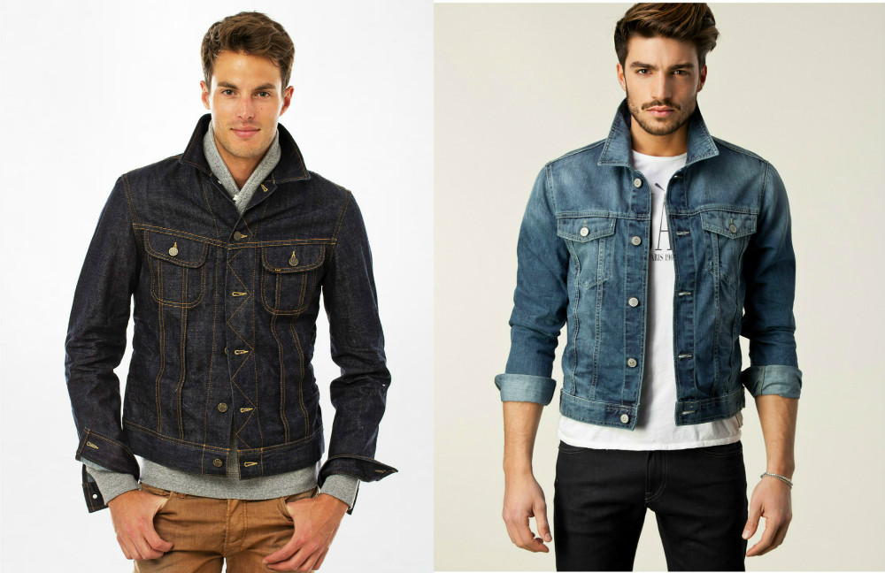 с чем носить мужскую джинсовую куртку фото нашем