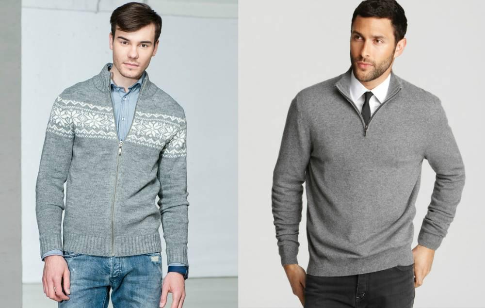 d711a7f776f Мужской свитер на молнии  лаконичность и сдержанность в образе ...