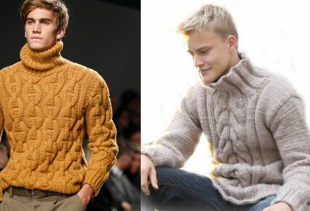 f5df8b79c71 Мужской свитер крупной вязки  рекомендации по выбору и составлению ...