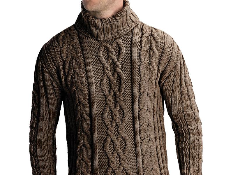 4c9d65dcf0c Мужской свитер с косами согреет в любую погоду