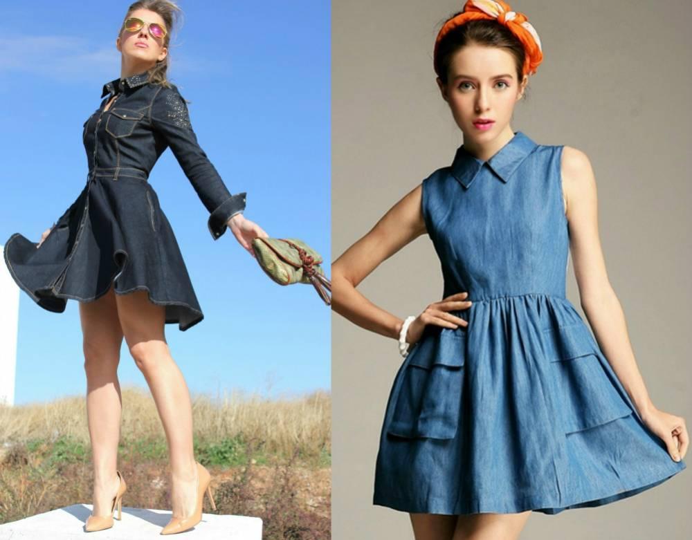 94e3e8a8ff4d870 Джинсовые платья: обзор моделей и правила сочетания | Мода от Кутюр.Ru