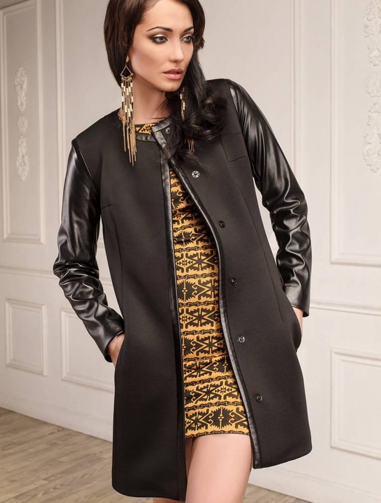 картинки пальто с кожаными рукавами групп