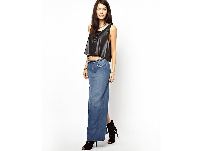 07541696 Прямая джинсовая юбка – универсальная модель для любого гардероба