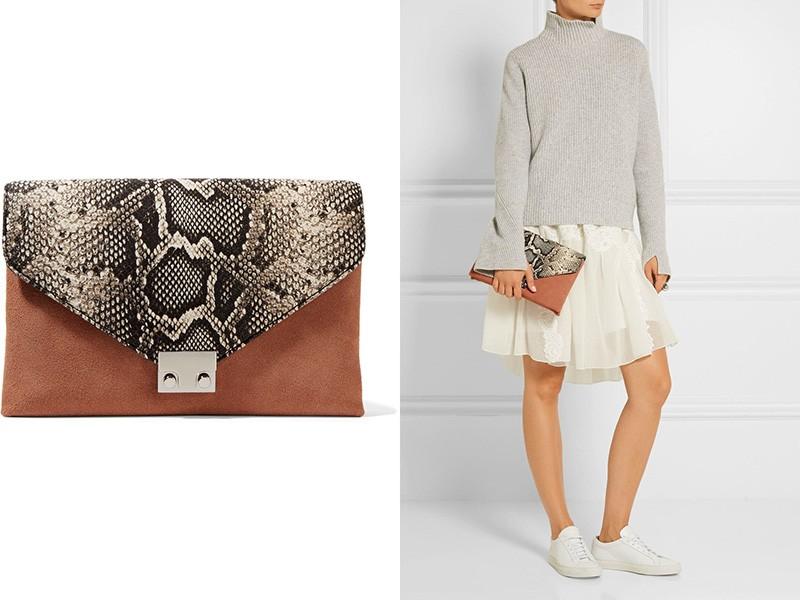 0c2c717a31f2 Конверт. Это относительно большой вариант клатча, похожий на плоскую папку.  Такая сумочка идеально подойдет для создания деловых образов.