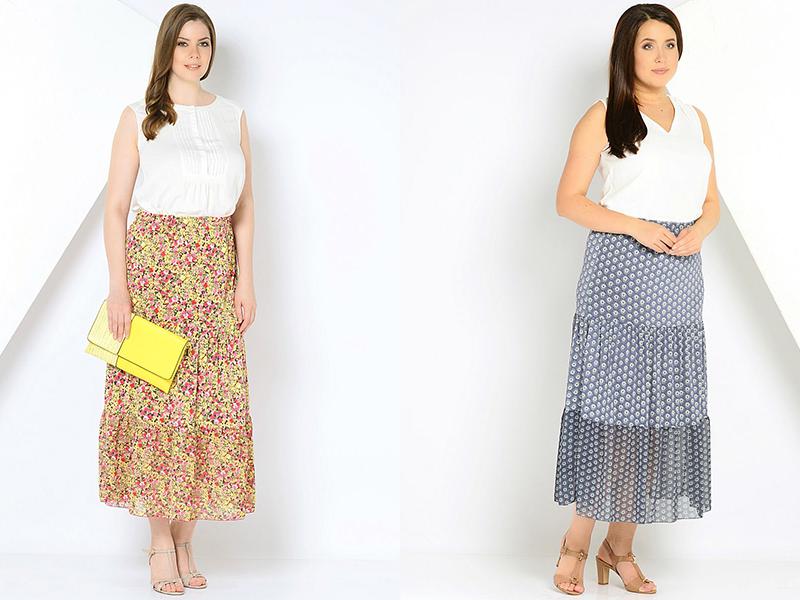21958108 Многоярусные юбки создают женственный стиль