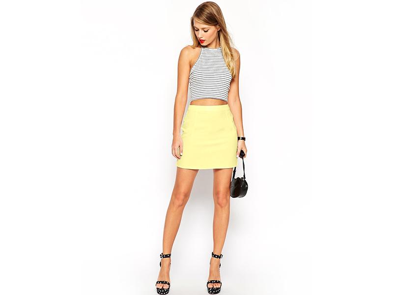 9ce454586ee7 Модный тандем – топ и юбка с завышенной талией подчеркивает красивую пышную  грудь, ...