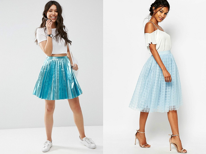5394d561103 Бирюзовая юбка – нежность и романтика в образе