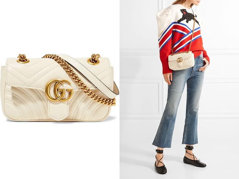 77dfde652233 Поклонникам классики понравятся традиционные клатчи из мягкой стеганой кожи  бежевого цвета от Chanel. Это модели с откидным клапаном на застежке.