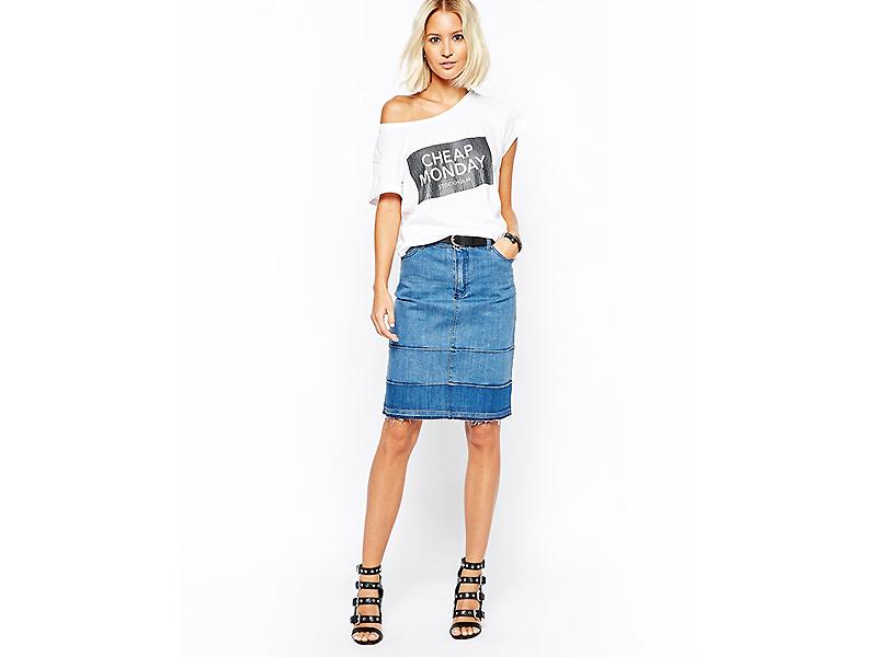 9ac7e5043cb Юбки из джинсовой ткани – супер популярная вещь в гардеробе модниц ...