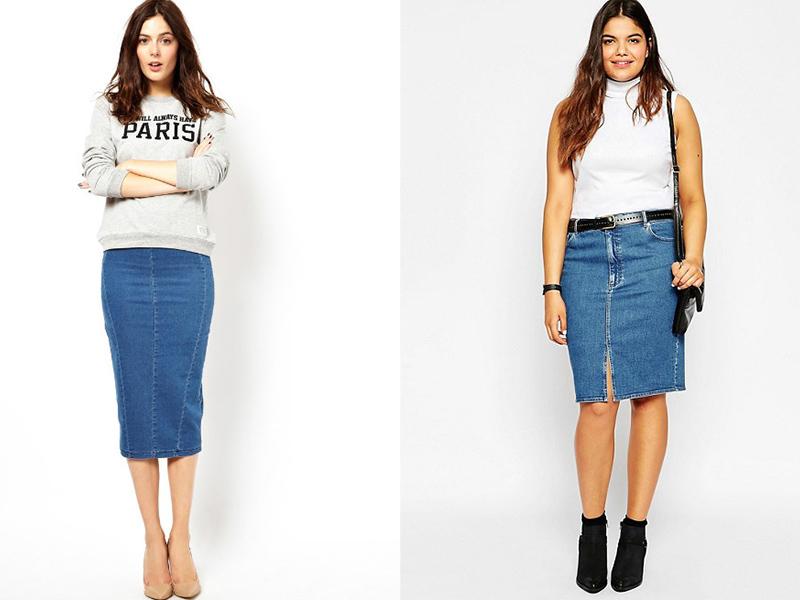 22888823 Прямая джинсовая юбка – универсальная модель для любого гардероба