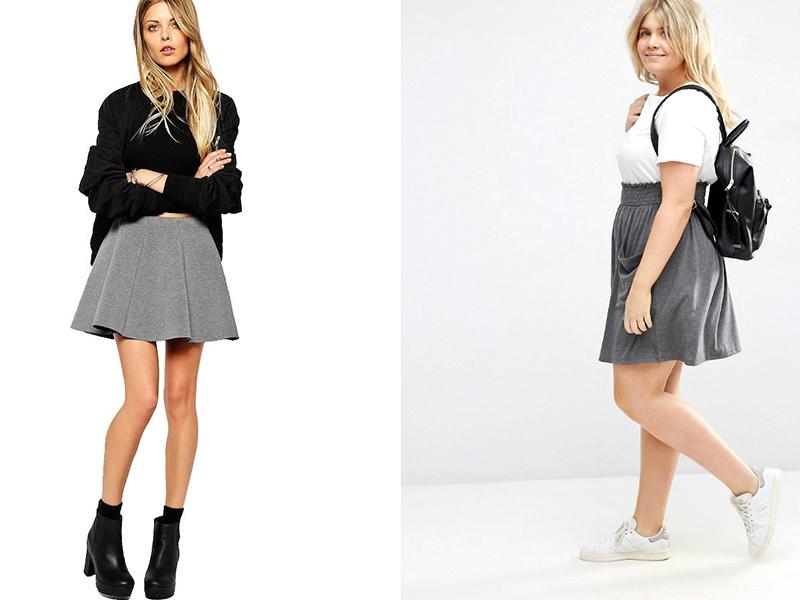 81d357372e9 Для девушек с фигурой «яблоко» можно использовать юбку с завышенной талией  или на резинке.