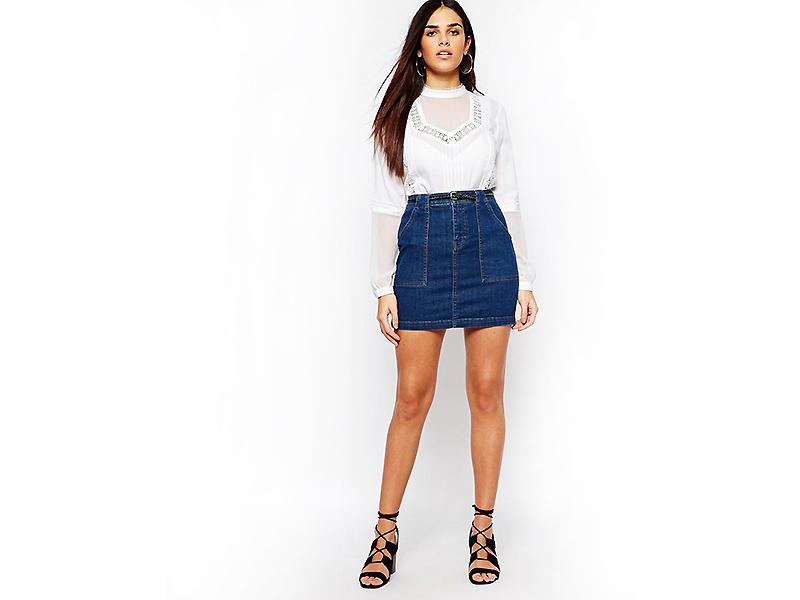 Джинсовые юбки с завышенной талией – практичное решение для вашего образа