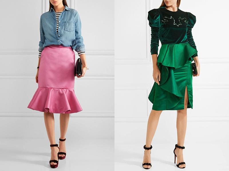 2d46f39ccffea Это стильное изделие с четкими линиями и ноткой игривости, которую вносят  оборки, служит для разных целей. Надеть юбку можно в офис ...
