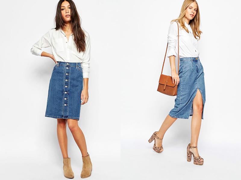 62027570 Прямая джинсовая юбка – универсальная модель для любого гардероба