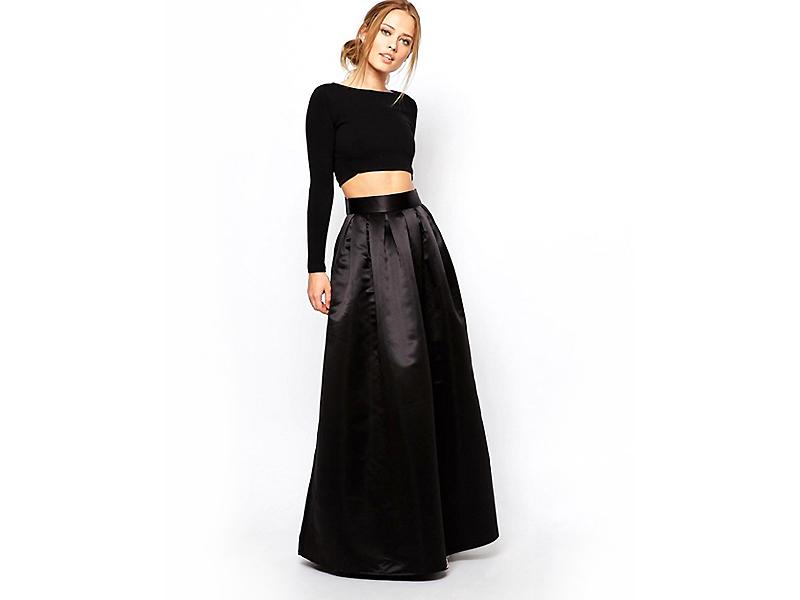 Черные юбки в пол картинки