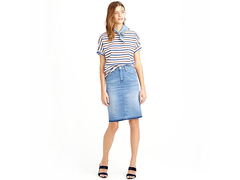 85678548 Прямая джинсовая юбка – универсальная модель для любого гардероба