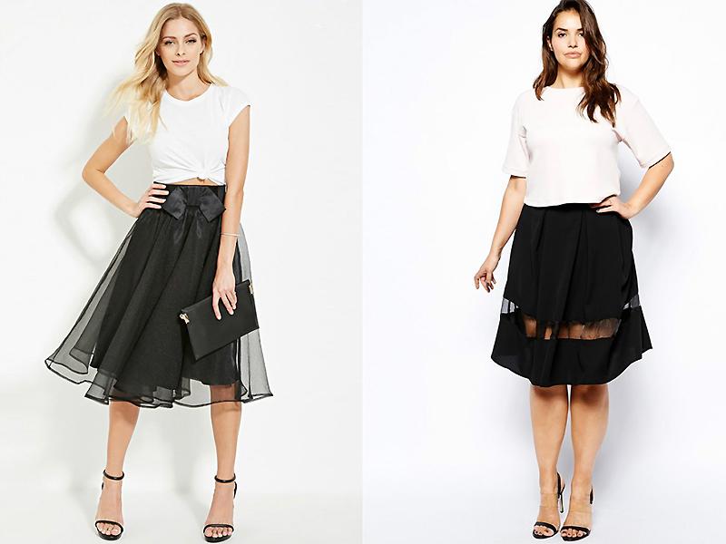 e946e2933157 Классический вариант стилевого сочетания – это темные пышные юбки и  облегающие белоснежные блузы. Красиво выглядит тандем с красной ажурной  кофтой до пояса.
