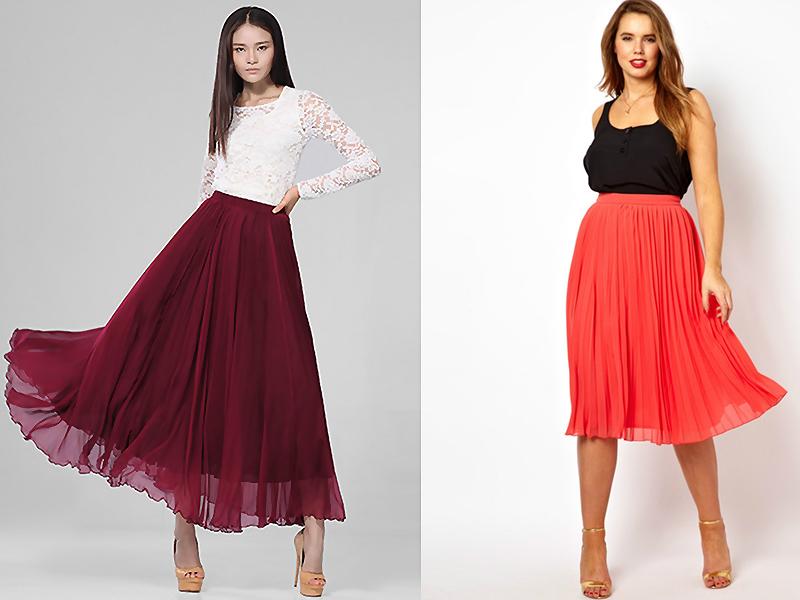 1d76bae520b Пышные шифоновые юбки длиной до колена станут идеальным решением для  весенне-летнего гардероба