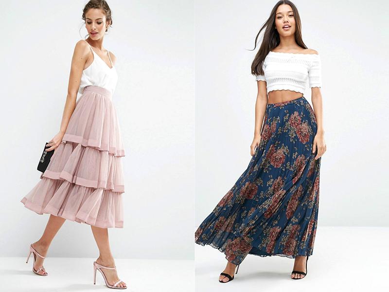 038ab4efe52 Девушкам с высоким ростом показаны юбки длиной миди. Особенно хороши пышные  модели на женщинах