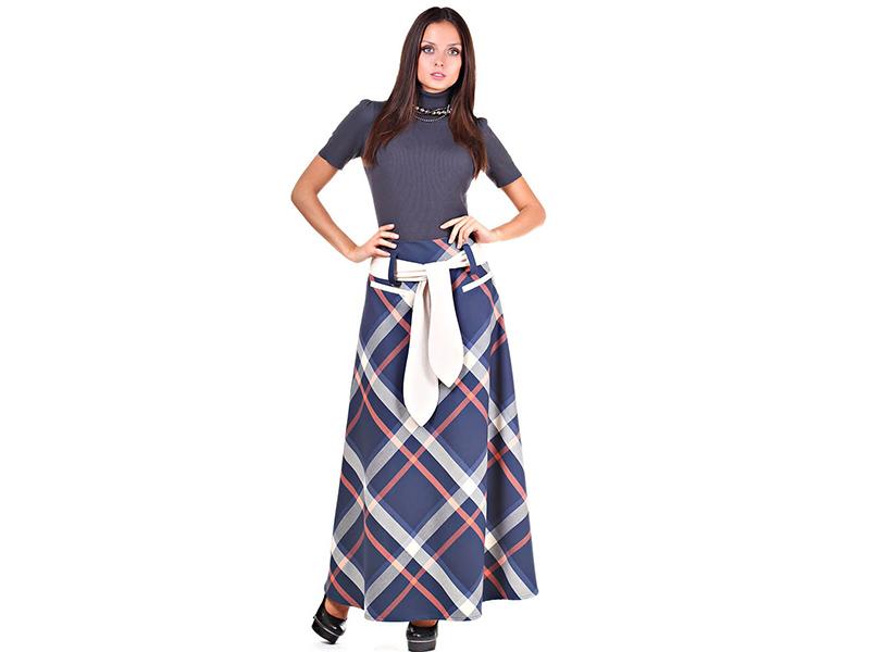 2ef2125cb94 Из ткани с геометрическим принтом шьют юбки самых разных фасонов